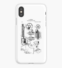 Mason Revolving Firearm Patent Black iPhone Case/Skin