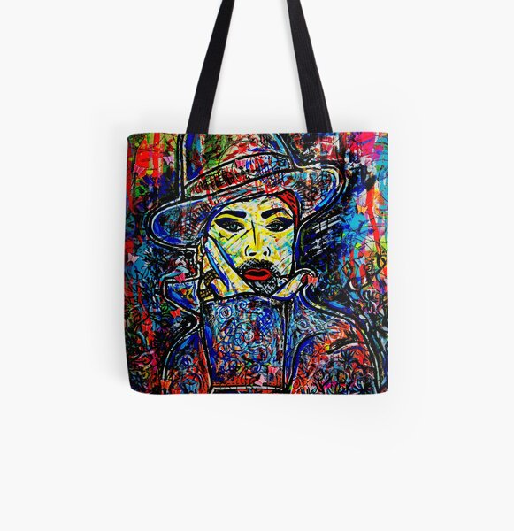 Boy George Merchandise Collection original painting by Dusty O All Over Print Tote Bag