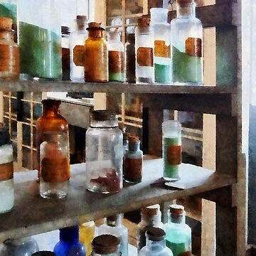 Chemistry - Bottles of Chemicals by SudaP0408