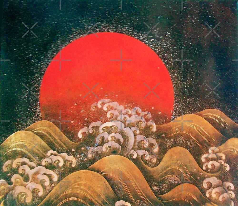 AMATERASU SUN GODDESS Red Black Brown by BulganLumini