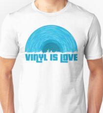 Blue Vinyl is love Unisex T-Shirt