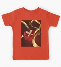 Brown Background with Heart Shaped Box Kids Tee