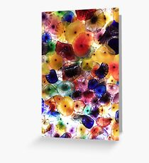 Bursts Of Coloured Glass Greeting Card