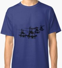 Huey Helicopter Team in Black v1 Classic T-Shirt