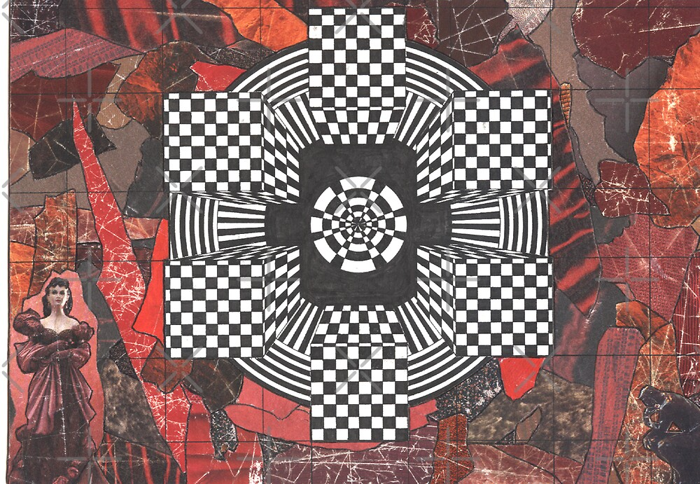 22 - OP-ART DESIGN & COLLAGE - 01 - DAVE EDWARDS - INK AND COLLAGE - 1995 by BLYTHART