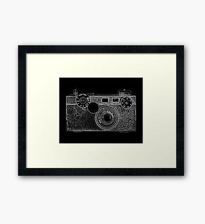 Argus Vintage Camera with White Outline Framed Print