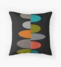 Mid-Century Modern Ovals Throw Pillow