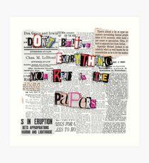 Controversy  Art Print