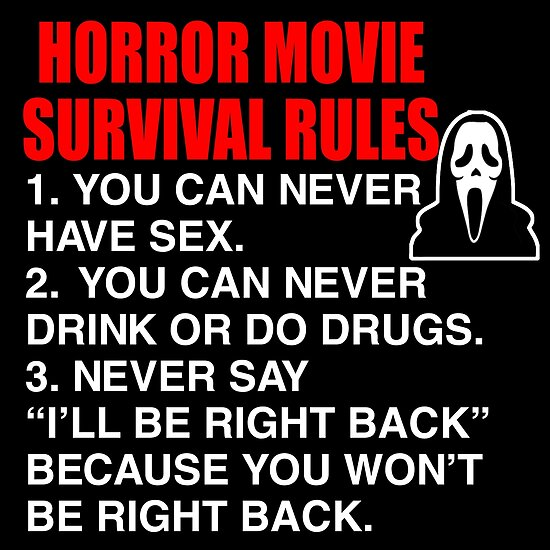'Horror Movie Survival Rules - Scream Quote' Poster by everything-shop
