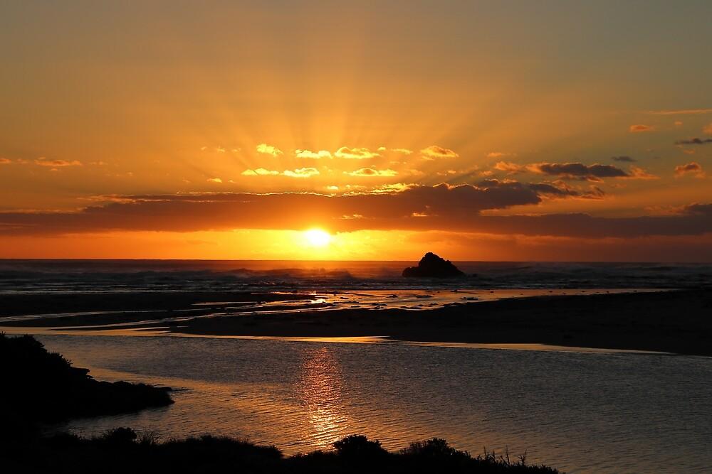 sunset at Arthur River, Tasmania by Gaylene Norton
