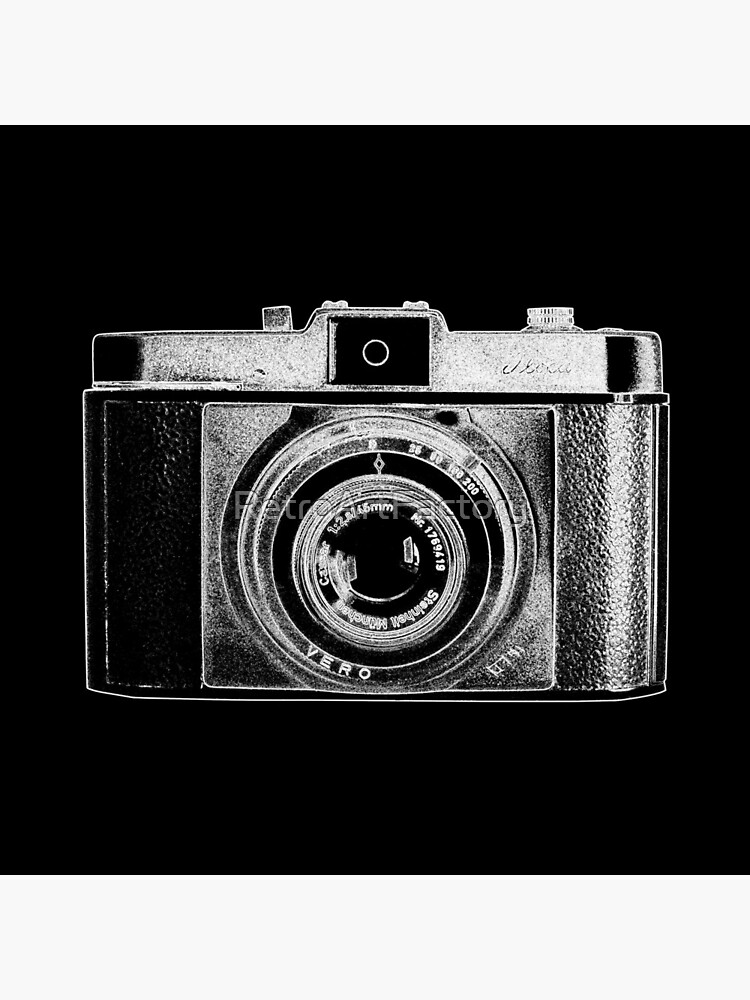 iLoca Vintage Camera with White Outline by RetroArtFactory