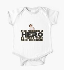 She Needed a Hero (Space Princess Version) One Piece - Short Sleeve
