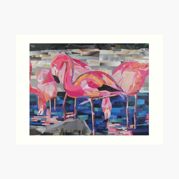 Flamingo Dancers Art Print
