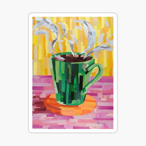 Green Coffee Cup Sticker