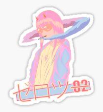 Zero 2 Blazed  - Vaporwave / anime Sticker