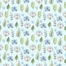 Rustical watercolor pattern. by Senpo