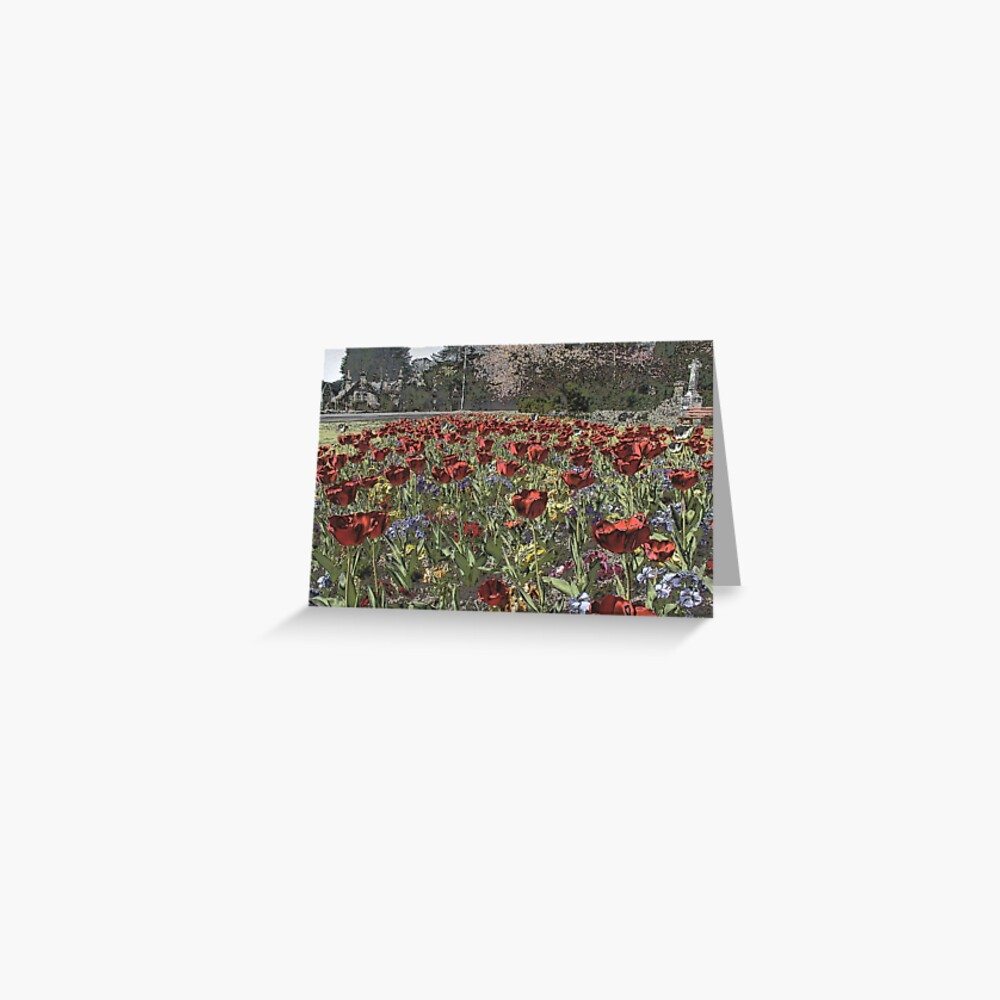 Chrome  Tulips Greeting Card
