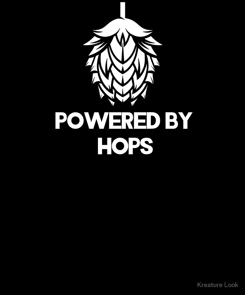 Powered By Hops | drinking games shirt | beer lover gift | craft beer shirts | beer gifts men | beer gifts for dad | drinking shirt | beer clothing | funny beer gift | beer pong by Tejus Patel