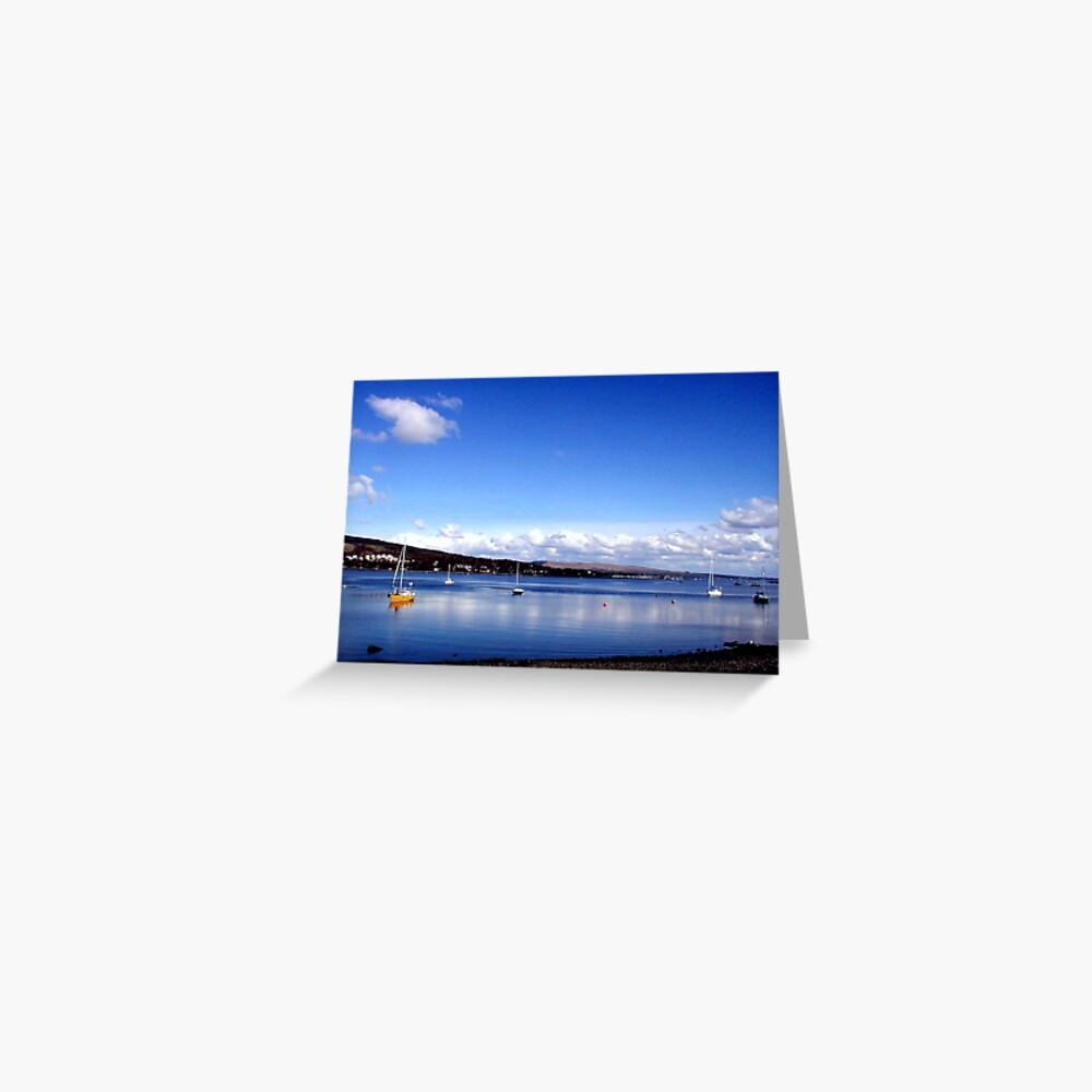 Blue  Skies Clynder Greeting Card