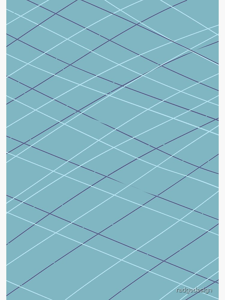 Aqua Balls - Lines in Teal by radgedesign