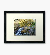 Crabtree Falls in Autumn ^ Framed Print