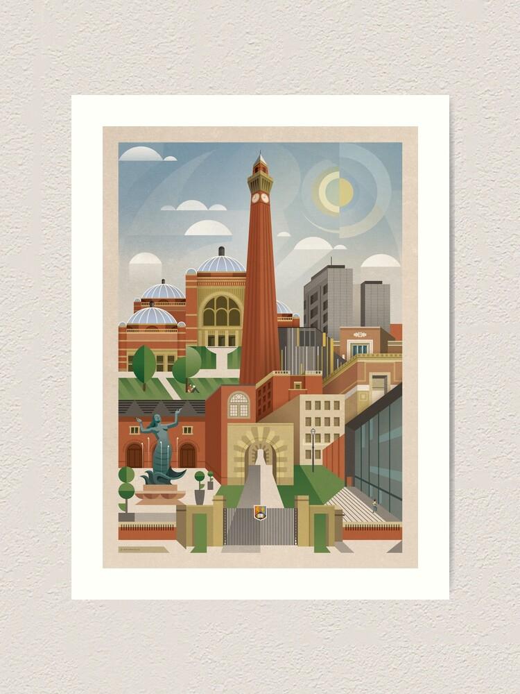 Alternate view of University Of Birmingham Art Print