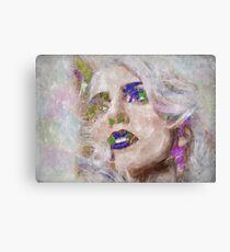 Lady Gaga Watercolor Canvas Print