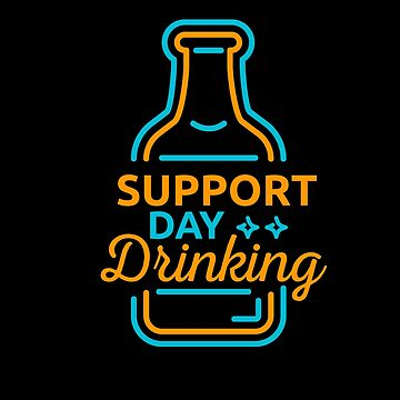 Support Day Drinking | drinking games shirt | beer lover gift | craft beer shirts | beer gifts men | beer gifts for dad | beer clothing | funny beer gift | beer pong by qtstore12