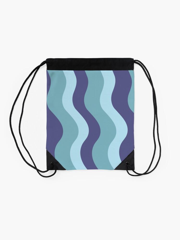 Alternate view of Aqua Balls - Waves Drawstring Bag