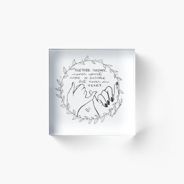 Together Forever Acrylic Block