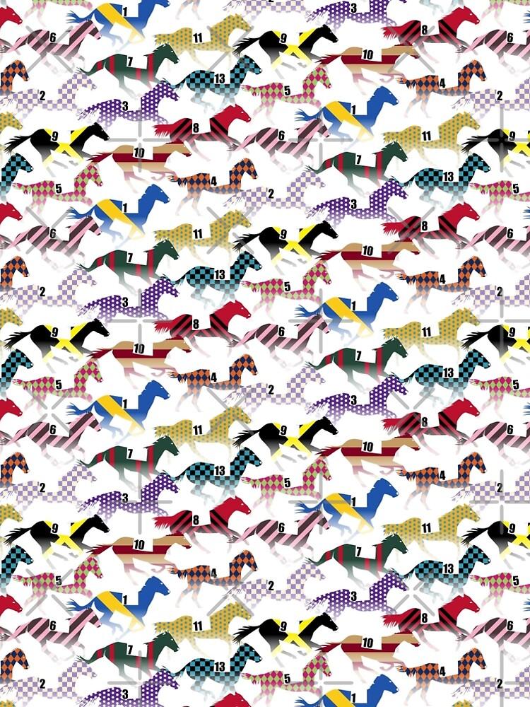 Off to the Horse Races Jockey Silks Pattern by wickedrefined