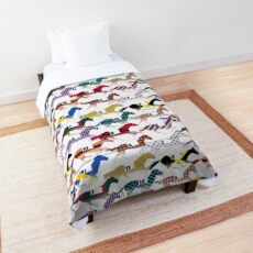 Off to the Horse Races Jockey Silks Pattern Comforter