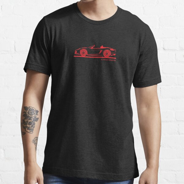 Porsche 981 Boxster Red Top Down Essential T-Shirt