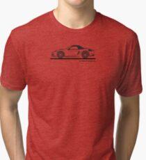 Porsche 981 Boxster Top Up Black Tri-blend T-Shirt