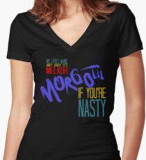 The Dark Lord, if You're Nasty Women's Fitted V-Neck T-Shirt