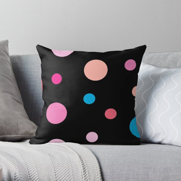 Linear Pink - Dots Throw Pillow