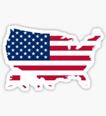 American Flag Cutout of the United States US Sticker