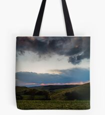Sunset over the Kaiserstuhl, South-West Germany Tote Bag