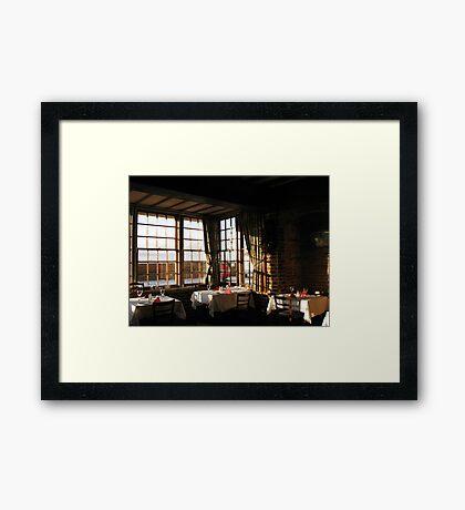 Winter Frühstück - Ye Olde White Hart Hotel Gerahmter Kunstdruck