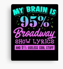 Funny Music Lover Apparel Canvas Print