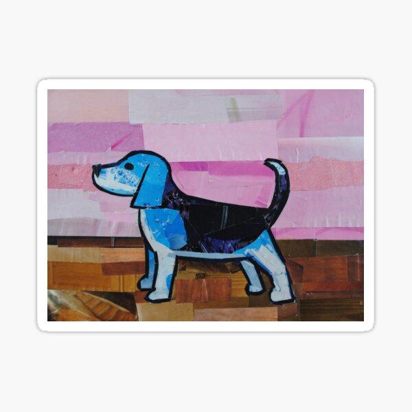 Blue Beagle Sticker