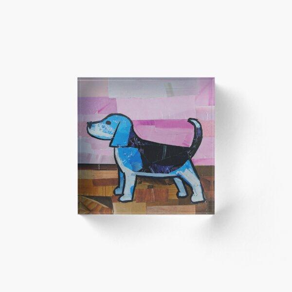 Blue Beagle Acrylic Block