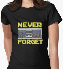 Retro Console / Never forget / Gamer / Gift Women's Fitted T-Shirt