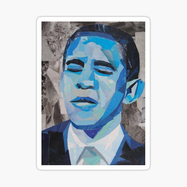 Blue Barack Obama Sticker