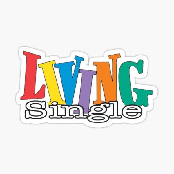 Living Single Logo Sticker