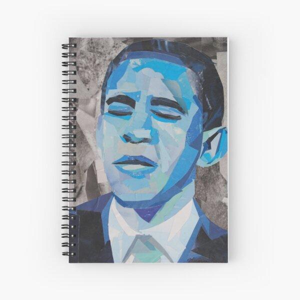 Blue Barack Obama Spiral Notebook