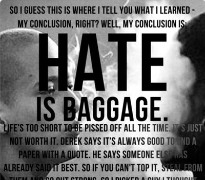 American History X Hate Is Baggage Full Quote Canvas Prints By