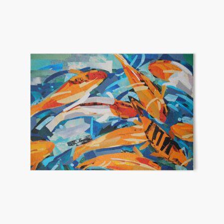 Goldfish Pond Art Board Print