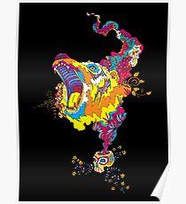 Psychedelic acid bear roar Poster