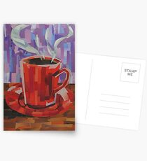 Red Coffee Cup Postcards